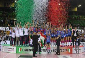 Igor Volley Novara Campione d'Italia 2016/17